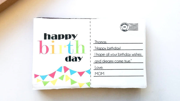 Birthday Postcard Brownie