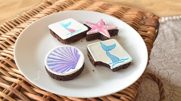 Individually Decorated Beach Brownies