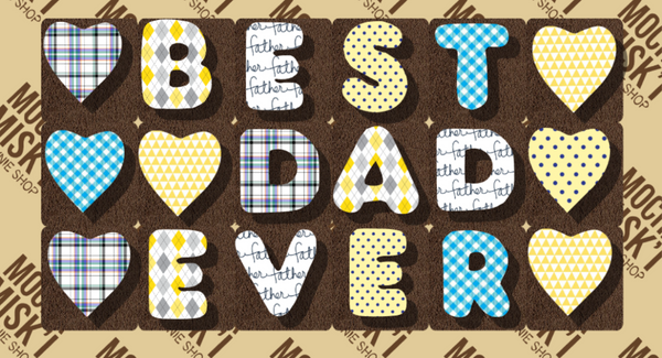 Best Dad Ever - Brownie Message