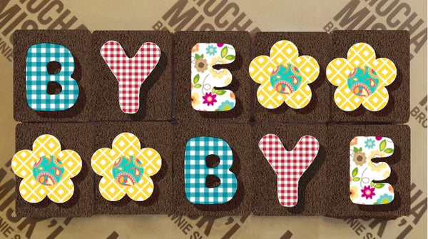 Brownie Message - Bye bye