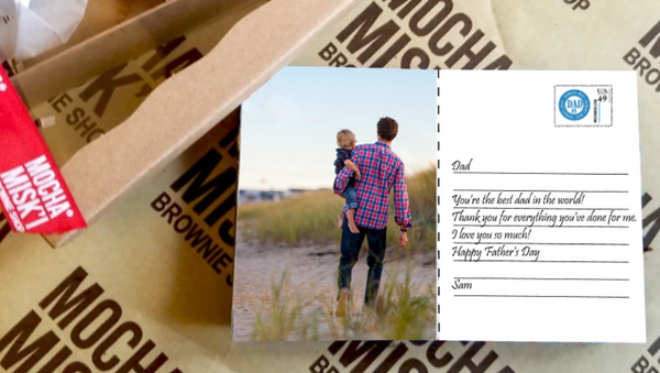 Selfie Father's Day Postcard Brownie
