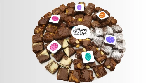 Easter Decorated Brownie Platter
