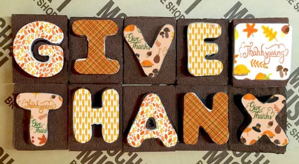 Give Thanks Brownie Message