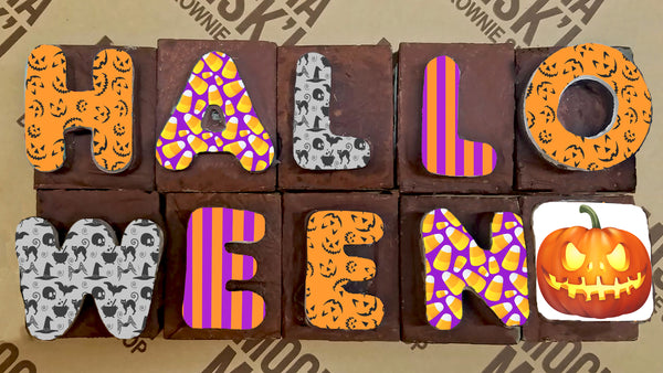 Halloween Brownie Message