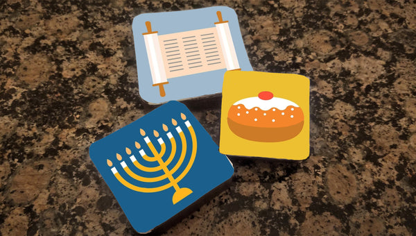 Individually Decorated Hanukkah Brownies