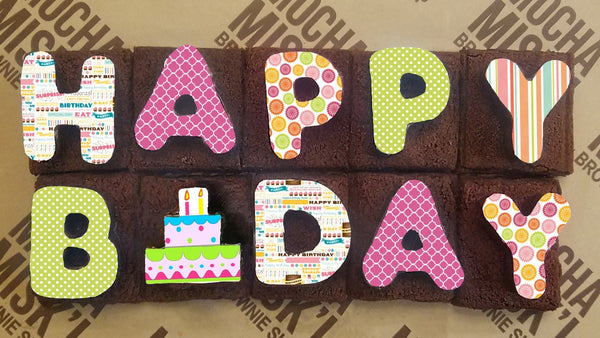 Happy B-Day Brownie Message