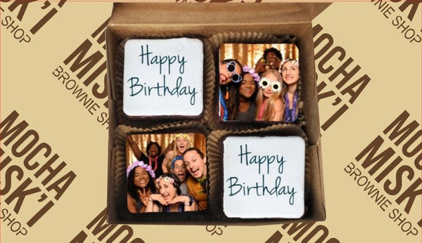 Selfie Birthday Brownie Box