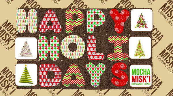 Corporate Happy Holidays Brownie Message