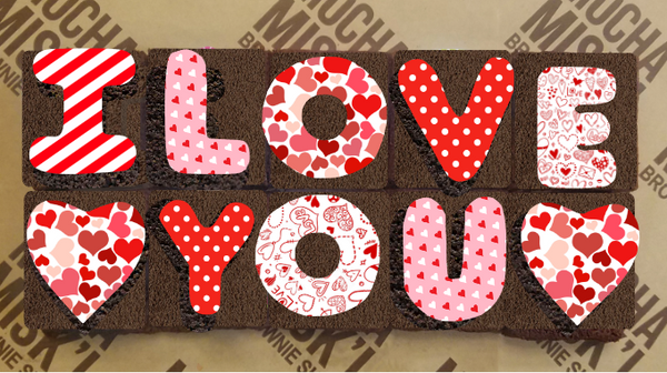 I love You Brownie Message