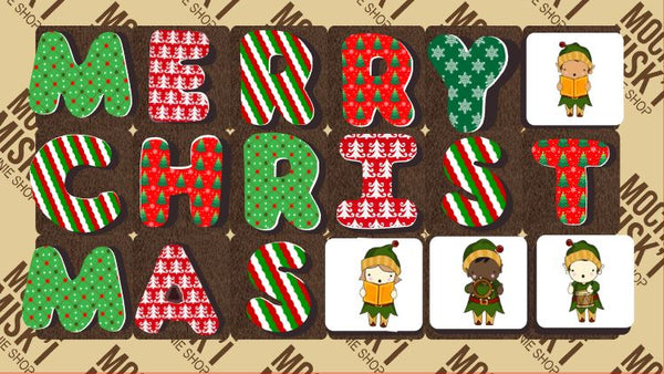 Merry Christmas Brownie Message