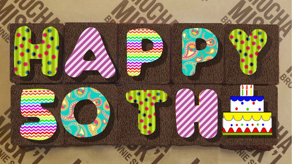 Select Age Birthday Brownie Message