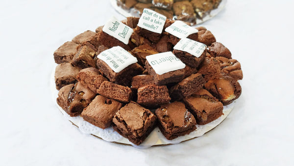 Decorated Brownie Platter
