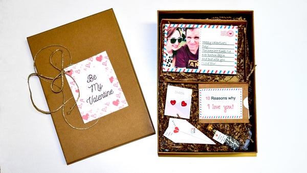Postcard Brownie Box - Love