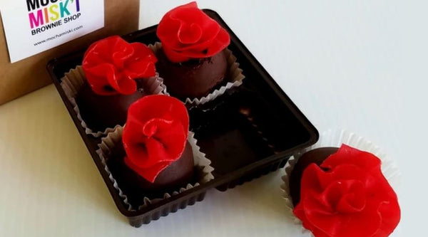 Rose Brownie Truffle Box