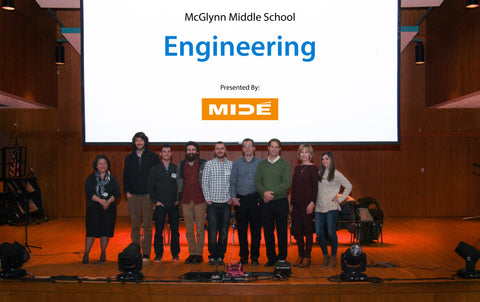 Mide Visits McGlynn Middle School