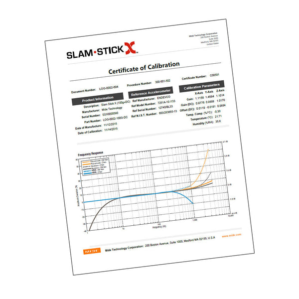 Slam Stick Re-Calibration Service