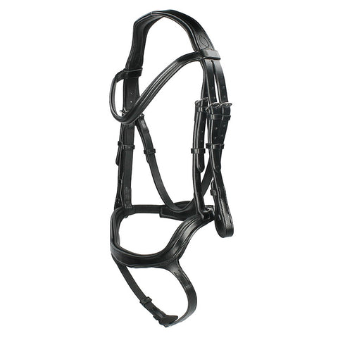 Black Designer D.D Leather Dressage Horse Bridle
