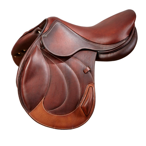 Brown Designer D.D Leather Dressage Horse Saddle