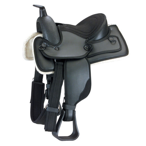 Black D.D. Leather Western Saddle