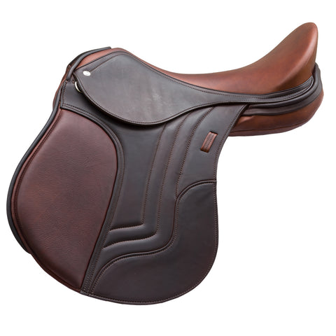 Brown & Black Designer D.D Leather Dressage Horse Saddle