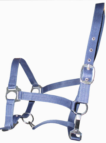 Blue Synthetic plastic Halter