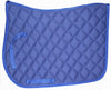 Blue English saddle pad