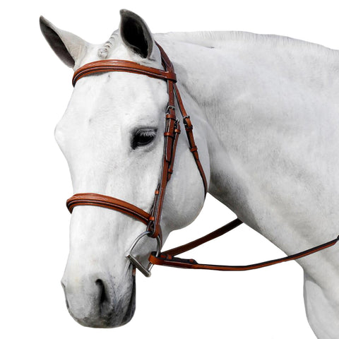 Flat Padded Brown Leather Bridle