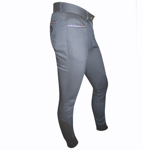 Navy Blue Cotton Woolen Breeches