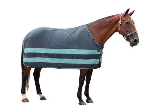Grey & Sky Blue Fleece Cooler Striped