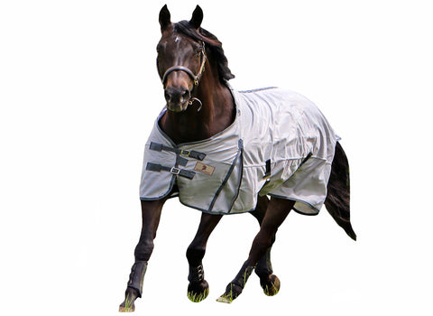 White & Grey Fly Sheet Std Neck MWS2