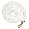 White Mustang Black Poly Lead Rope