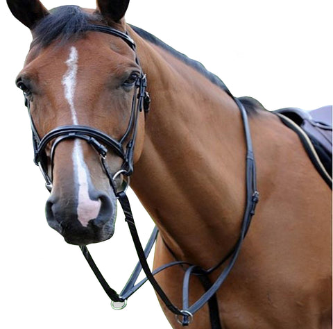 Black DD Leather Breastplates & Martingale