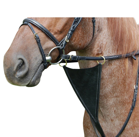 Black DD Leather Martingale with Belly Protector/Brass