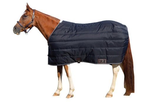 Black 420D Stable Blanket Std Neck 200G