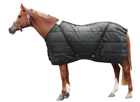 300D Black Stable Blanket Std Neck 250G