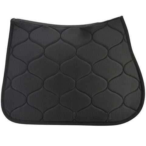 Black Polycotton Dressage Saddle Pad