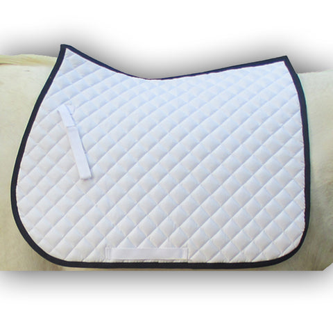 White Saddle Pad Basic
