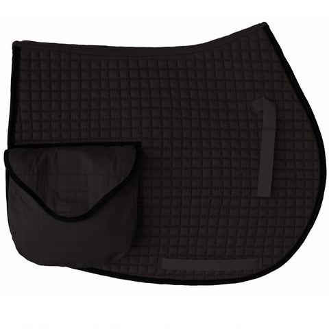 Black Riding Saddle Pad