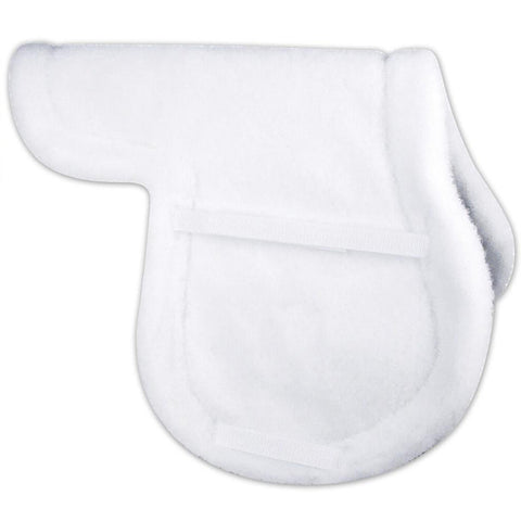 Super Quilt white English Saddle Pad