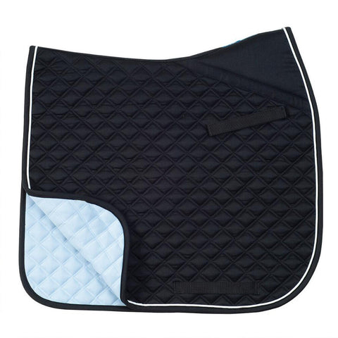 Black/White Dressage Saddle Pad