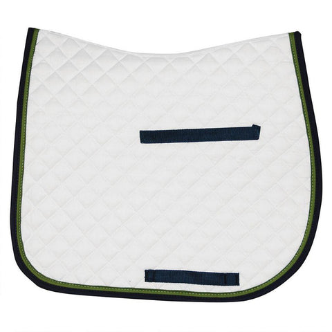 White and Blck outlline English Saddle Pad