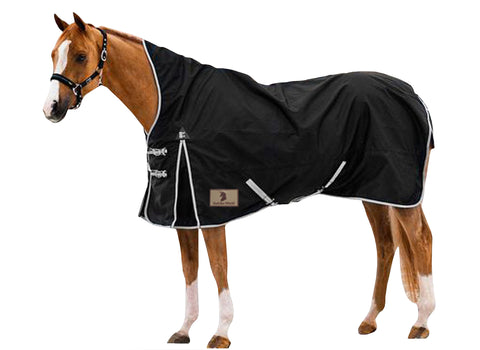 Black 600D Turnout Blanket High Neck 150G