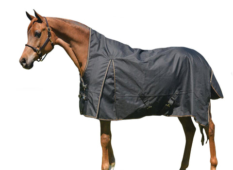 Black 1200D Turnout Blanket High Neck 150G