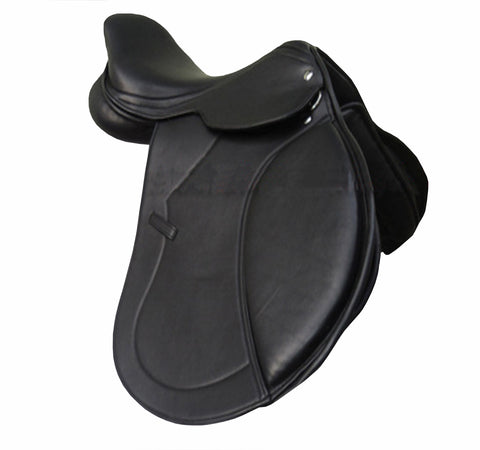 Shalimar Black Leather Dressage Horse Saddle