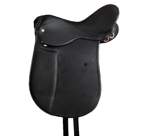 D.D Leather Soft Black Eventing Horse Saddle