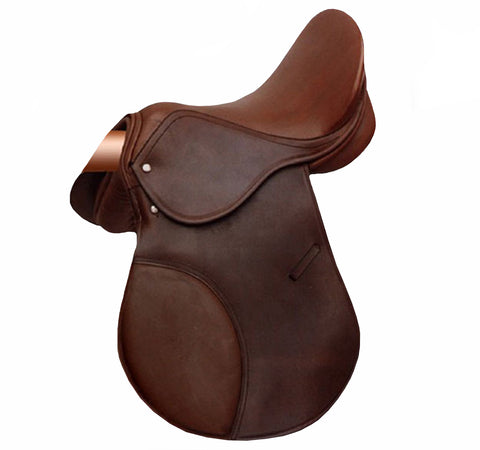 Brown Shalimar Soft Leather Horse Saddle