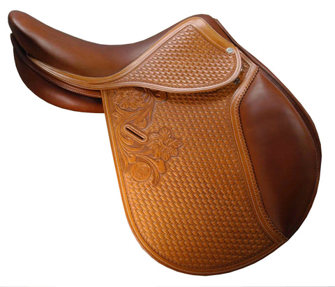 DD Leather Comfortable Golden Brown English Saddle