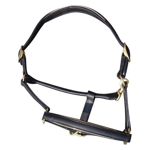 Designer Black Leather Halter