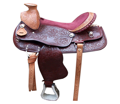 Designer Brown Leather Saddle