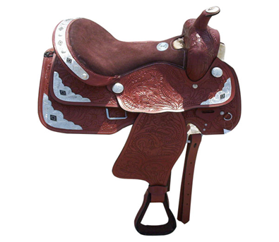 Brown Leather Roper Saddle